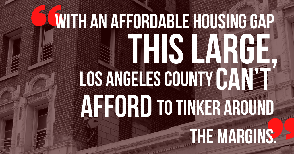 How Many Affordable Homes Does L.A. County Need?