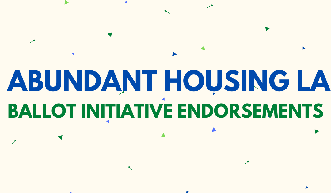 Our Ballot Initiative Endorsements